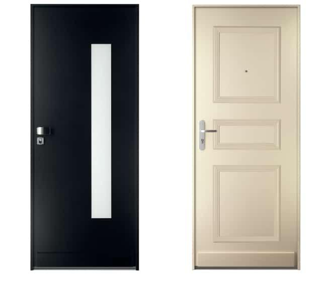 bloc portes blanc et noir
